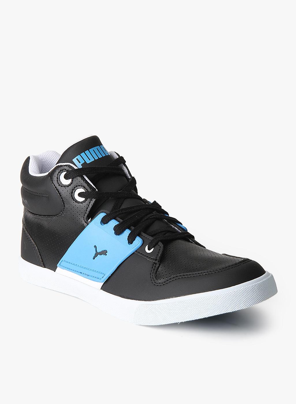 d7d3d1096973cb Puma El Ace 2 Mid Pn Black Sneakers for Men online in India at Best ...