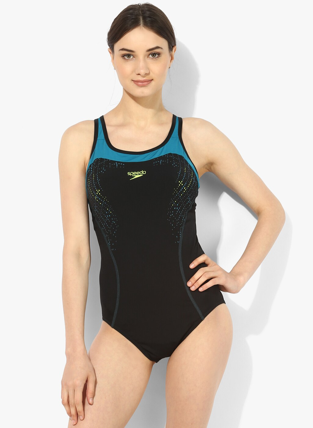 70913278de Speedo Racerback Black Swimsuit for women price in India on 19th ...