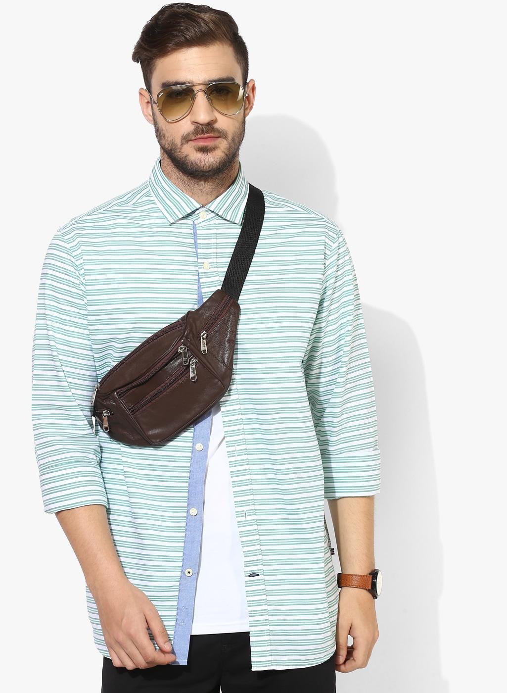 bc83cc67e13 Buy Tie Rack London Men White Slim Fit Formal Shirt With Tie ...
