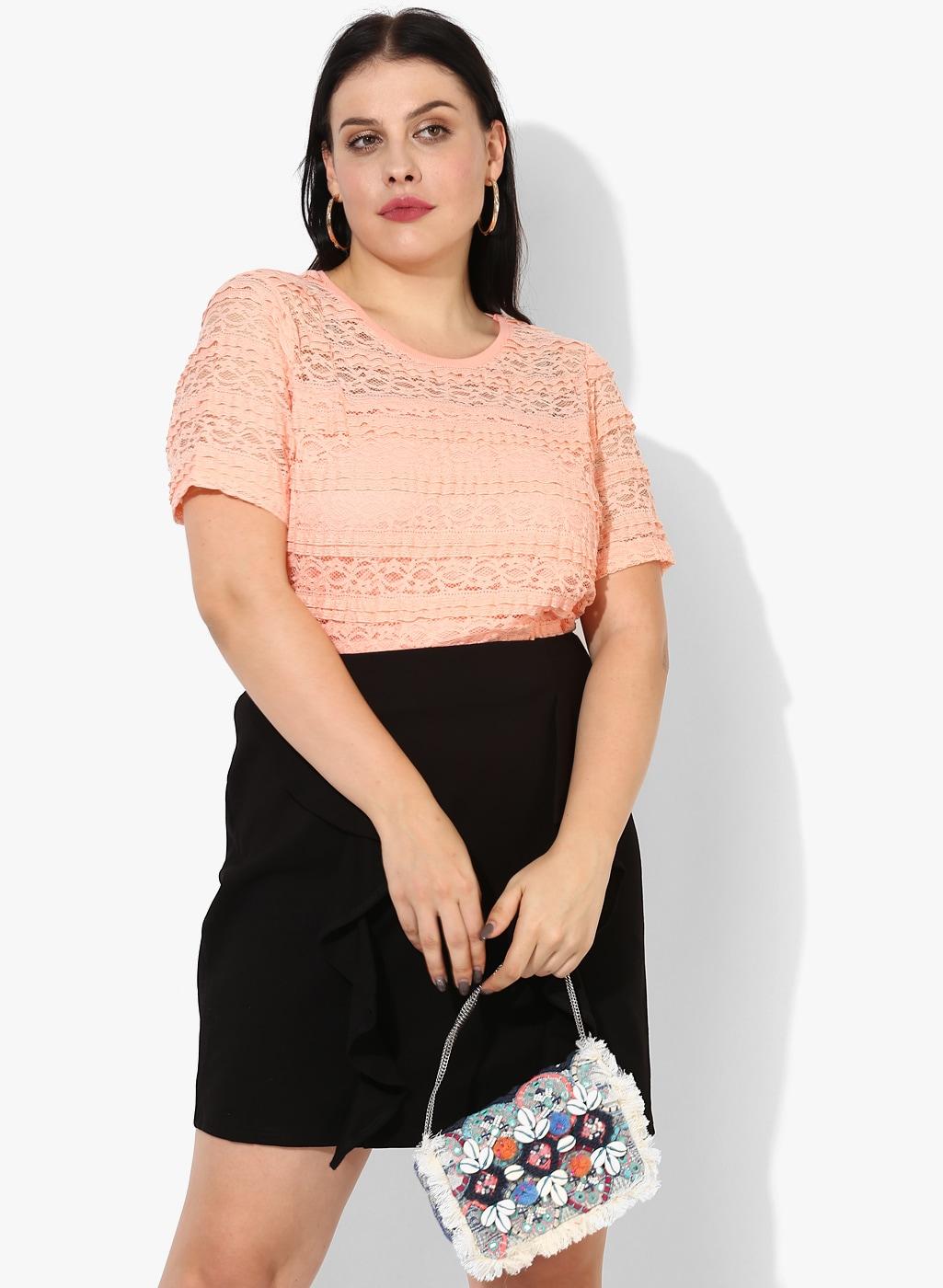 98cf57c1b1be1 Buy FabAlley Curve Women Maroon Cold Shoulder Top - Tops for Women ...