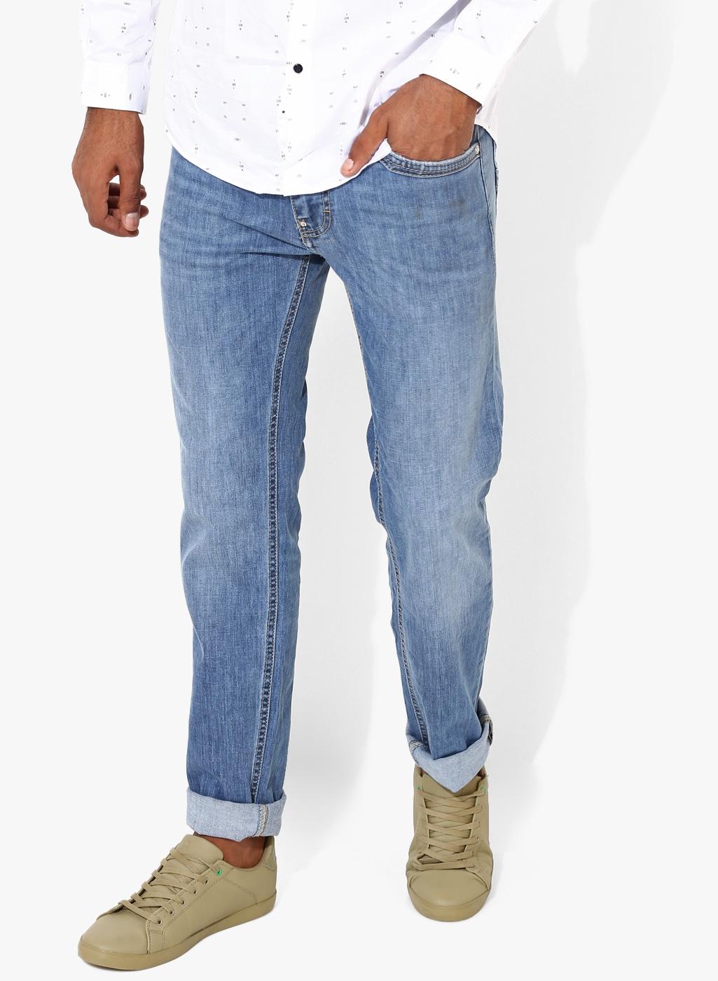 Gas Blue Morris Zip Slim Fit Jeans for men price - Best buy price in ... 93bc187ebe4