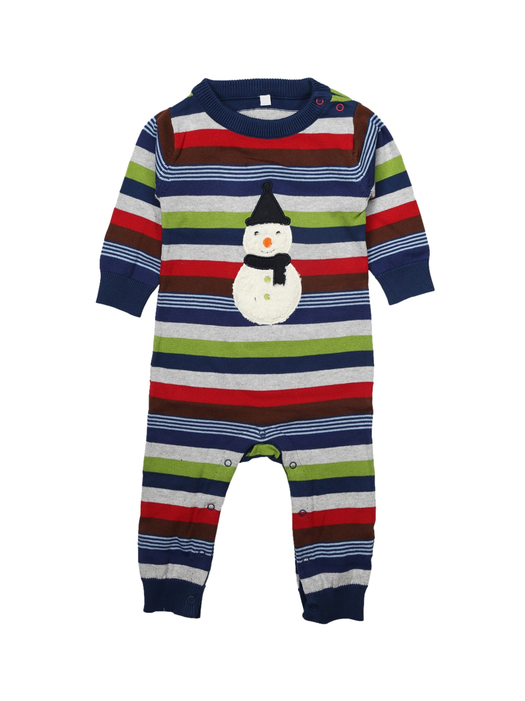 7213aac28 Buy GAP Baby Boys' Grey Stripe Marled One Piece - Rompers for Boys ...