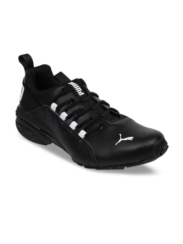 23dd18a8349a72 Buy Puma Men Black Hexa Dot Running Shoes - Sports Shoes for Men ...