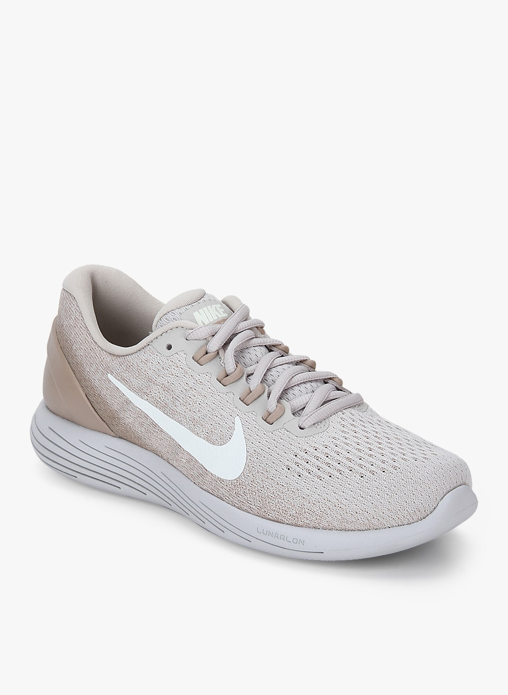 new style 72c01 063d8 Nike Lunarglide 9 Beige Running Shoes women