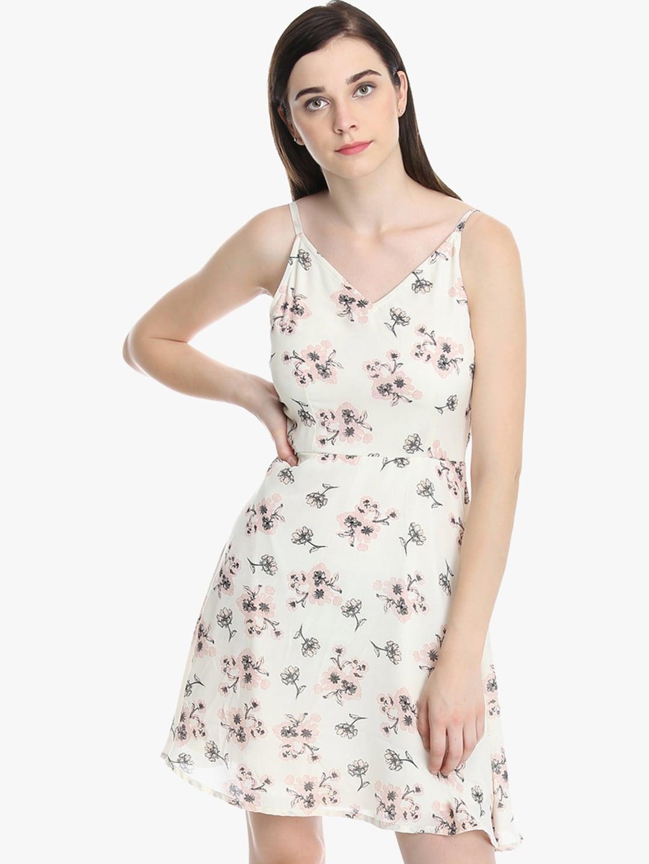 e49e1d551c1 Buy DODO   MOA Women Off White Printed Wrap Dress - Dresses for ...