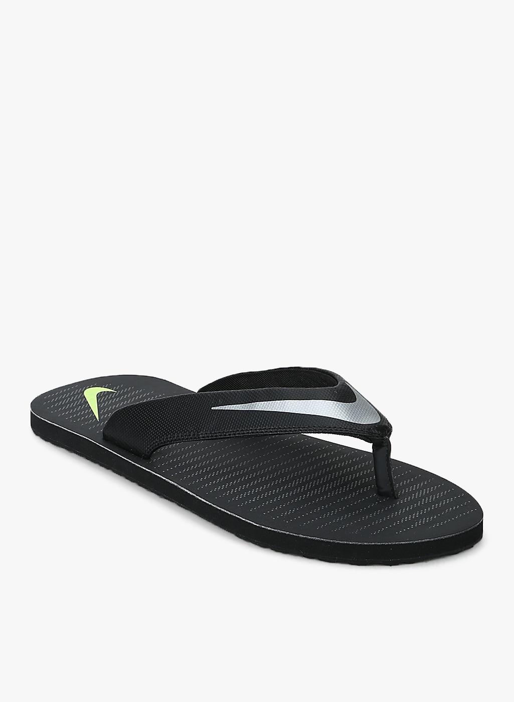 8797f48b9faf Nike Black Solid Thong Flip Flops for Men online in India at Best ...