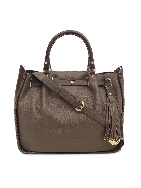 b2c6dfe6be1 Buy Da Milano Brown Solid Leather Tote Bag - Handbags for Women ...