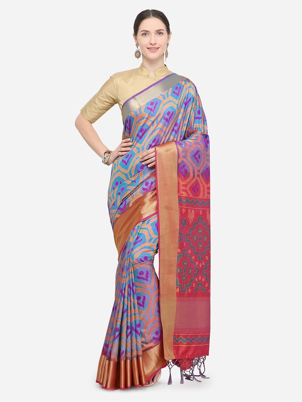 e2d345f81882d2 Buy Aradhya Multicoloured Art Silk Woven Design Ikat Saree - Sarees ...
