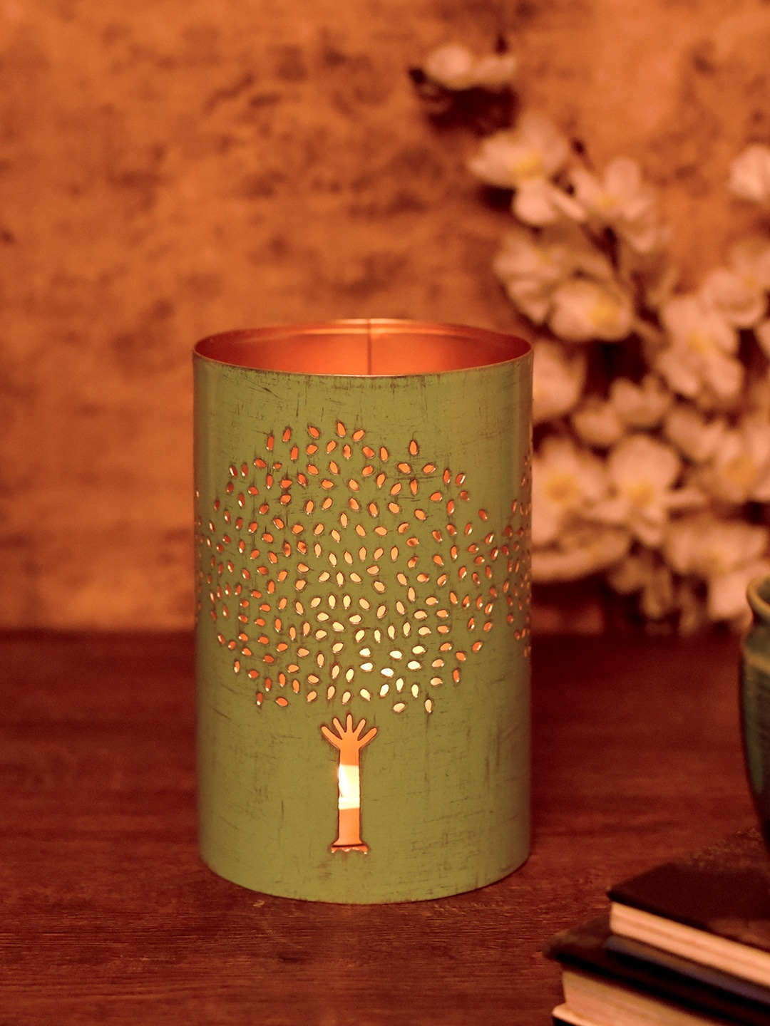 1e7b052ea9 Buy Unravel India White Textured Tealight Candle Holder - Candle ...