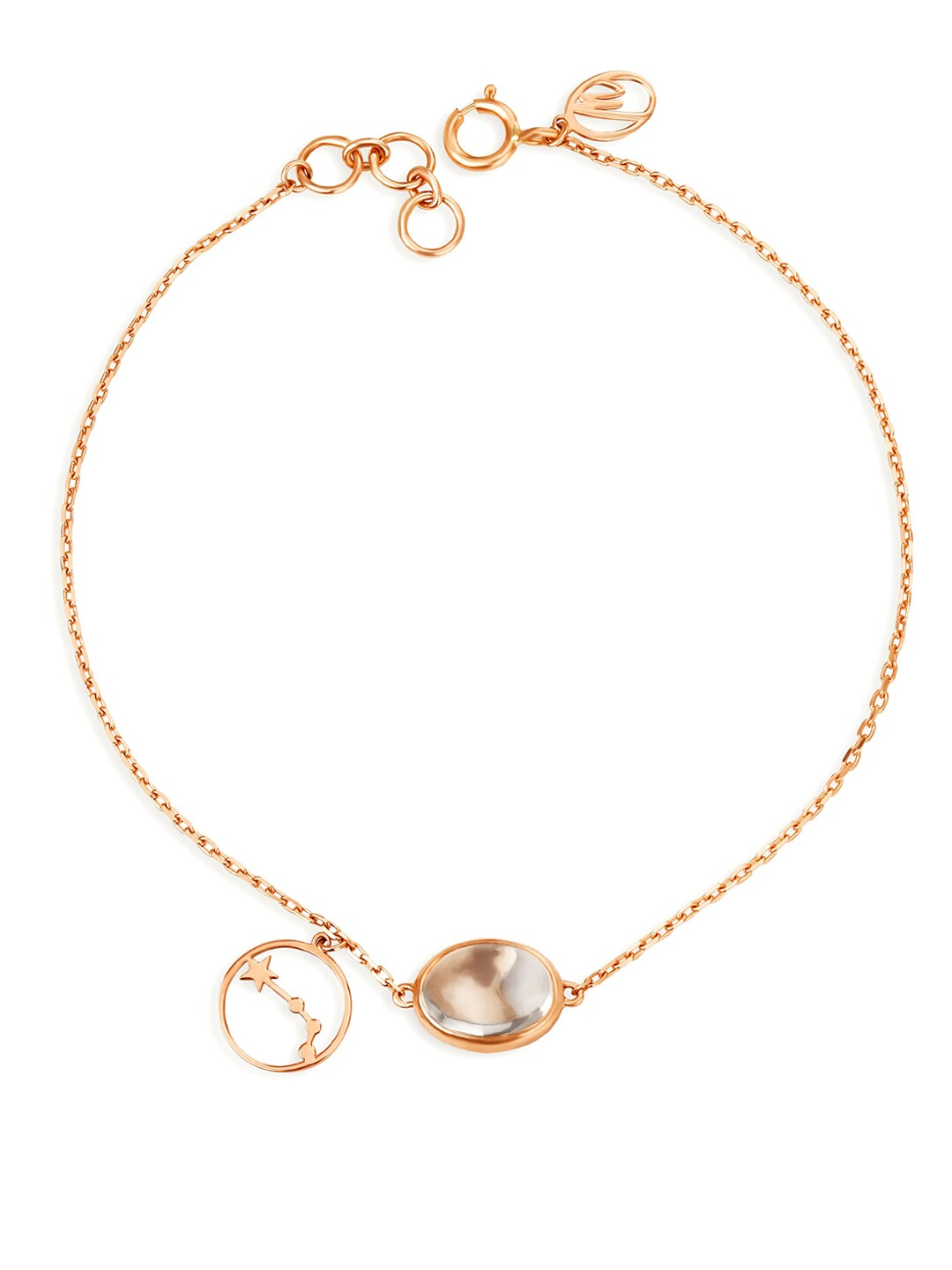 Buy Mia By Tanishq 14KT Rose Gold Cancer Birthstone Studded