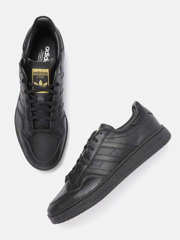mens adidas black shoes