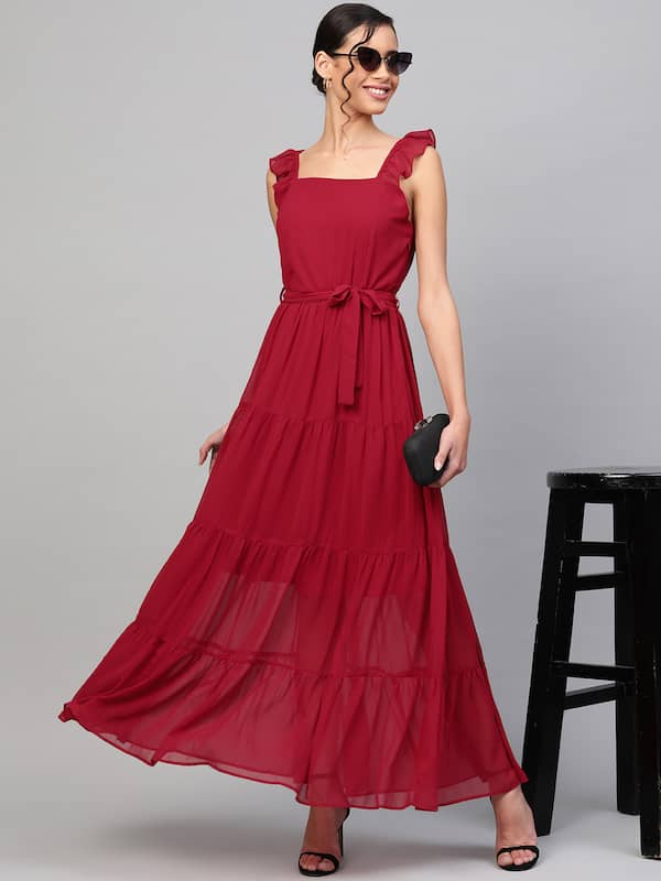 Maxi Dresses Buy Maxi Long Dress Online For Women Girls From Myntra