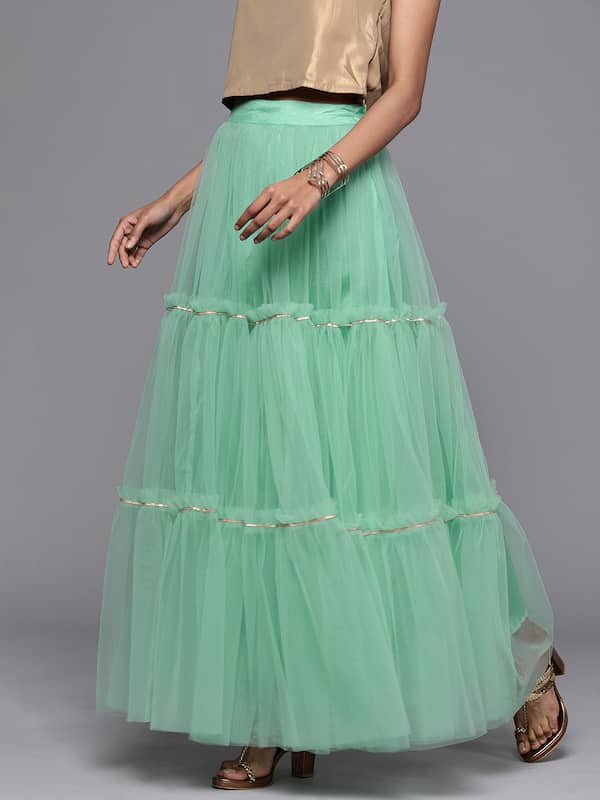 Green Skirts - Buy Trendy Green Skirts Online in India | Myntra
