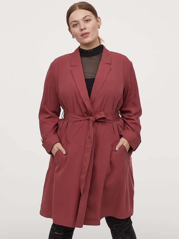 Foshow Womens Wool Blend Coat Wrap Lapel Belted Pea Overcoat Casual Long Sleeve Trench Outwear Jacket with Pockets