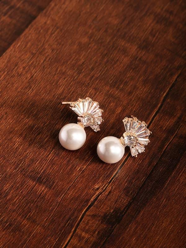 Rose Gold Earrings And Studs Earring Buy Rose Gold Earrings And Studs Earring Online In India