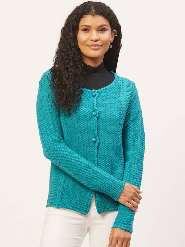 Turquoise Blue Sweaters Buy Turquoise Blue Sweaters online