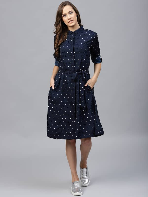 462c7b3e Tokyo Talkies. Women Printed Shirt Dress