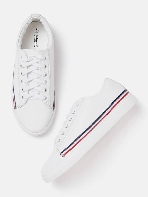 myntra white sneakers womens