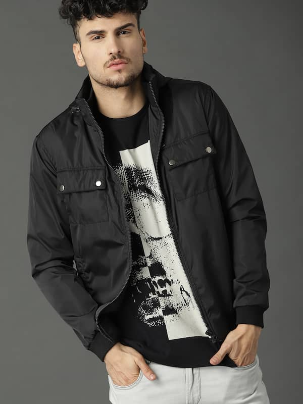 0fc6e1d4e Roadster Black Bomber Jacket - Buy Roadster Black Bomber Jacket ...