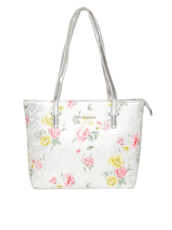 Lino Perros. Floral Print Shoulder Bag 508b4fa09db07