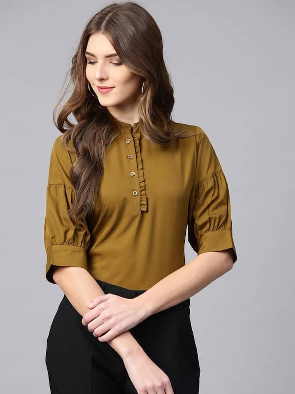 Ladies Tops Buy Tops T Shirts For Women Online Myntra