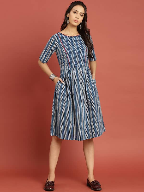 b75dd4afb3 Knee Length Dress - Buy Knee Length Dresses Online in India