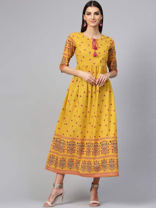 d16efb95e270 Mustard Dress Dresses - Buy Mustard Dress Dresses online in India