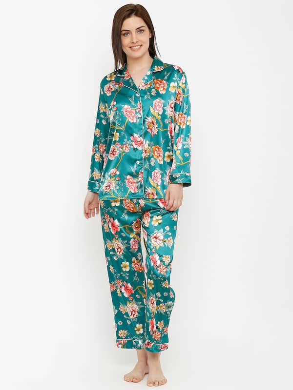 e1bbf13234 Green Women Night Suits - Buy Green Women Night Suits online in India