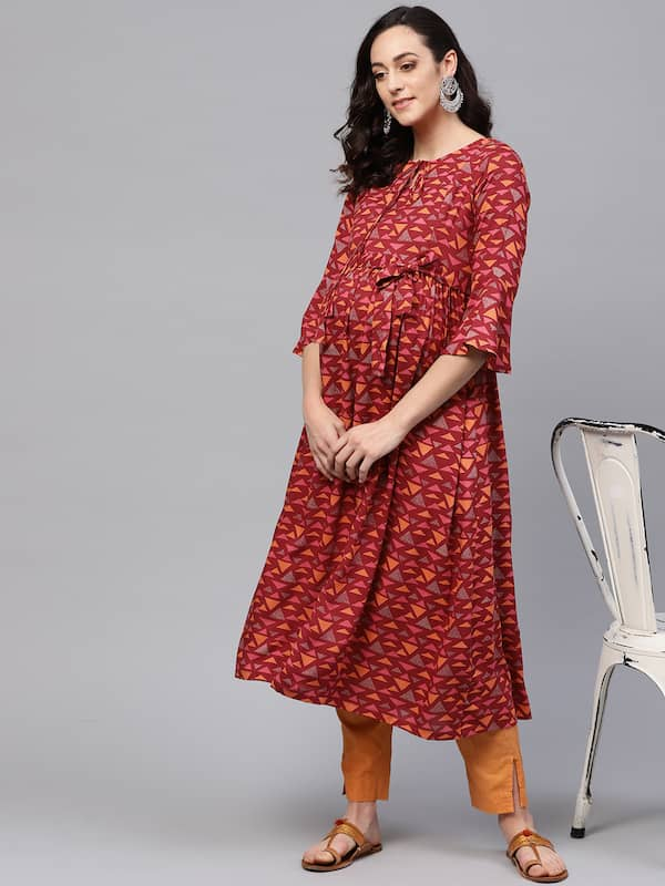 64d55893b75fc Maternity Kurtis Churidar Kurtas - Buy Maternity Kurtis Churidar ...