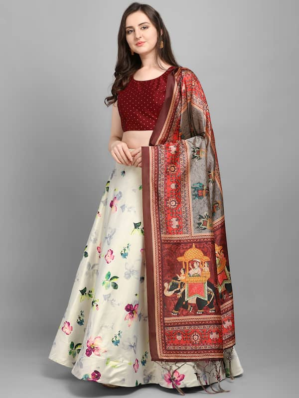 Lehenga लह ग Buy 2020 Collection Of Designer Lehenga Choli लह ग च ल Online In India Myntra