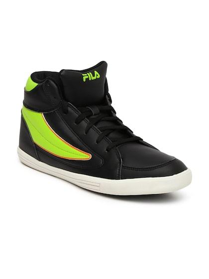 Buy FILA Men Black \u0026 Lime Green