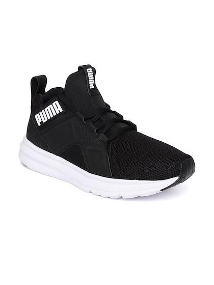 Black Enzo Eng Mesh Running Shoes
