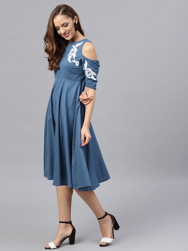 Knee Length Dress - Buy Knee Length Dresses Online in India f6d343342