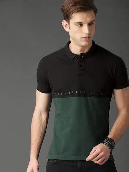 a32235993b8ef d8621ea0-f821-4b21-ad24-7dc5e67323a71549621320714-Roadster-Men -Green-Colourblocked-Polo-Collar-T-shirt-4481549-1.jpg
