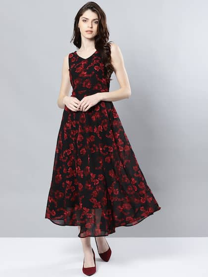 IndiaMyntra Dress Dresses For In Black Buy Women n08mvNw