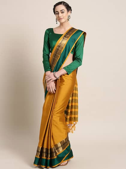 2aff13d837 Cotton Silk Saree - Buy Cotton Silk Sarees Online | Myntra