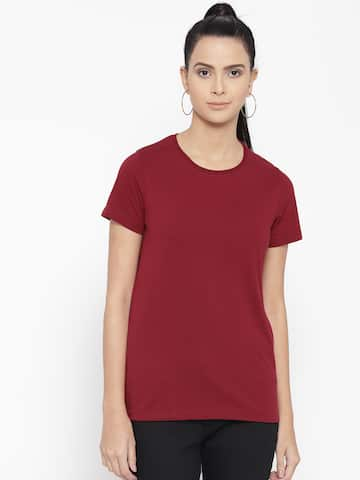 ba706061f0 T-Shirts for Women - Buy Stylish Women's T-Shirts Online | Myntra
