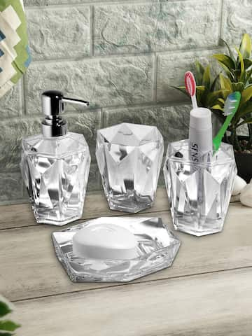 Clear Acrylic Bathroom Accessories Set 4 Colours Available Best