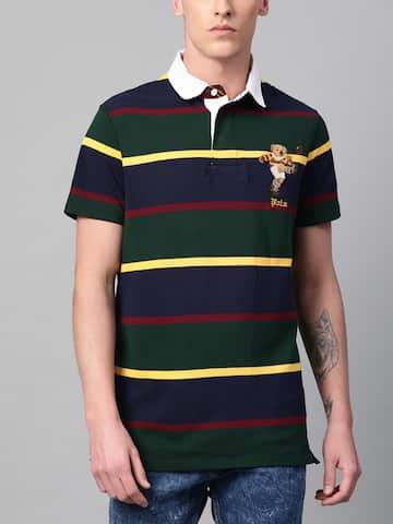 Polo Ralph Lauren Men Custom Slim Fit Iconic Bear Rugby Kicker Mesh Polo Shirt