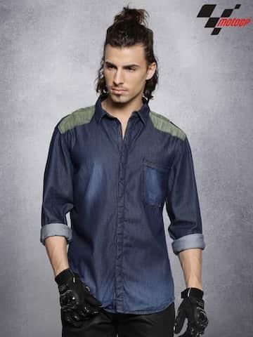 439d3457cbfe Denim Shirts - Buy Denim Shirts for Men Online in India