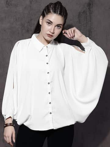 2b8a32a58d95 White Tops - Buy White Tops Online in India