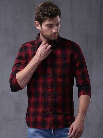0dee47a92 Red Shirts - Buy Red Shirt for Men, Women & Kids Online | Myntra