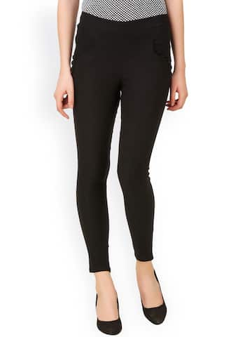 133f7680fe5 Black Jeggings - Buy Black Jeggings Online in India