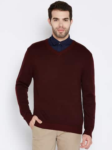 a5acd58d Tommy Hilfiger Sweaters Lifestyle Lifestyle Men Burgundy Sweater ...