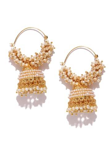 c89029d42fb6a Jhumkas - Buy Jhumka Earrings Online in India | Myntra