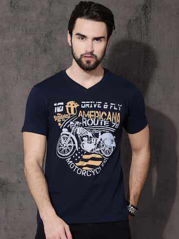 3fa2843c1249 V Neck T-shirt - Buy V Neck T-shirts Online in India | Myntra