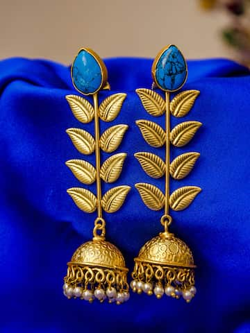 c89029d42fb6a Jhumkas - Buy Jhumka Earrings Online in India | Myntra