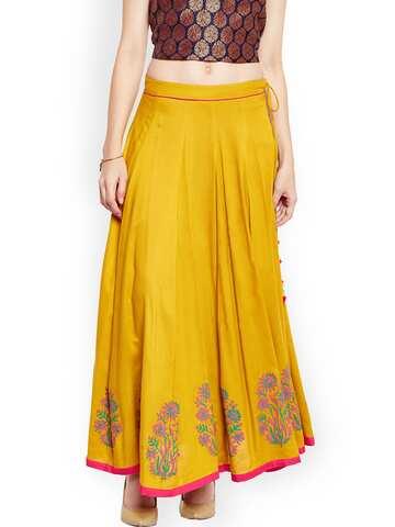 11905e503e8 Ethnic Long Skirts - Buy Ethnic Long Skirts Online | Myntra