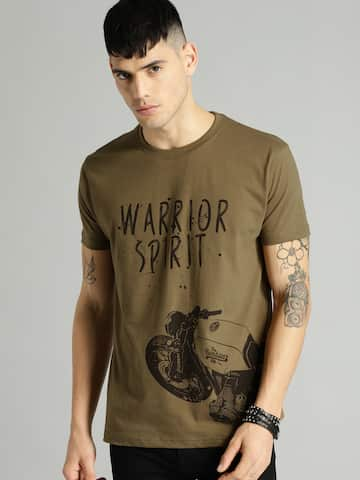 4960fbf5374 Men T-shirts - Buy T-shirt for Men Online in India | Myntra
