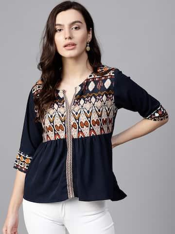 f9a76b3b5d9c43 Tops - Buy Designer Tops for Girls   Women Online
